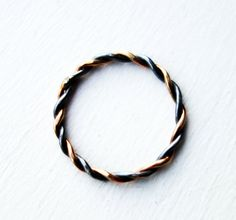 Dainty Braided Two Toned Band
