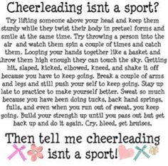 Cheer is a sport