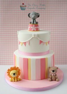 two tier baby circus cake!