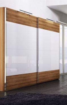 Sliding Wardrobe Designs, Sliding Wardrobe Doors, Wardrobe Design Bedroom, Bedroom Bed Design, Bedroom Furniture Design, Closet Designs, Bedroom Decor, Wardrobe Laminate Design, Bedroom Cupboard Designs