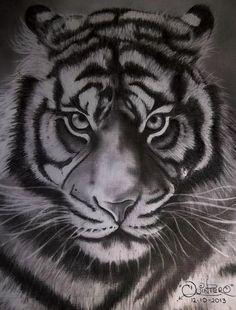 dibujo tigre a lapiz
