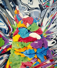 """Jeff Koons, """"Play-Doh"""" Oil on canvas, x cm, Collection of the artist © Jeff Koons. Photo: Jeff Koons Studio, New York (On view at the Beyeler Foundation) Balloon Dog, Balloon Animals, Play Doh, Jeff Koons Art, Classical Realism, Apple Watch Wallpaper, Artistic Installation, Oldenburg, Photorealism"""