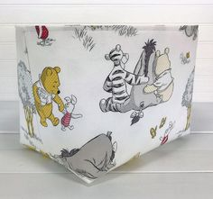 Winnie the Pooh Storage Basket Organizer Bin Storage Bin | Etsy Fabric Storage Bins, Toy Storage, Storage Baskets, Fabric Organizer, Organizer Bins, Smart Storage, Baby Nursery Neutral, Baby Nursery Decor, Nursery Ideas