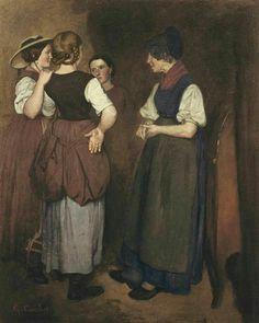 Gustave Courbet (French, 1819-1877). Les Récits de la Grand-Mère Salvan (Les trois soeurs de Courbet)