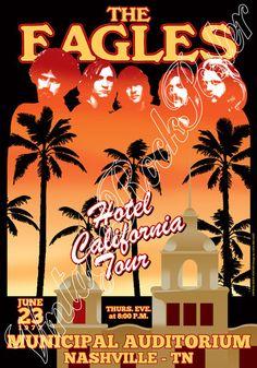 643 EAGLES Nashville Us 23 june 1977 artistic by Mokusaiya