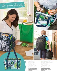 For your family from Thirty-One Gifts 2015 Spring-Summer Collection (US) Various colors/prints available. https://www.mythirtyone.com/heavenlymama/
