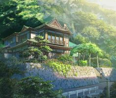 Discover a collection of 100 Original Background for animated movie Your Name (Kimi no na wa). Kimi No Na Wa, Scenery Background, Animation Background, Anime Backgrounds Wallpapers, Anime Scenery Wallpaper, Aesthetic Japan, Aesthetic Anime, Fantasy Landscape, Landscape Art