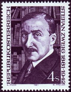 birthday of Stefan Zweig poet One Decade, Stamp Collecting, Postage Stamps, Poet, Austria, Famous People, Illustration, Personality, Writers