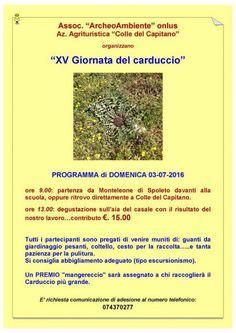 XV Giornata del carduccio a Monteleone di Spoleto presso Colle del Capitano