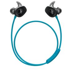 Power through your workout with Bose SoundSport wireless headphones. These sweat- and weather-resistant wireless earbuds provide tangle-free audio for your workout.