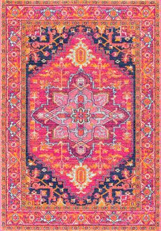 Similar to our Chroma Center Medallian rug, this Rugs USA Bosphorus BD32 Katrina Blooming Rosette Rug is booming with life!