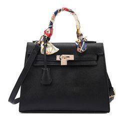 Women Messenger Bags Ladies Tote Small shoulder bag woman brand leather handbag crossbody bag with scarf lock designer bolsas