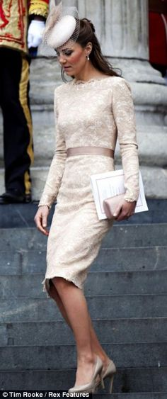 Kate at the Queen's Diamond Jubilee, Service of Thanksgiving at St Pauls Cathedral in June 2012
