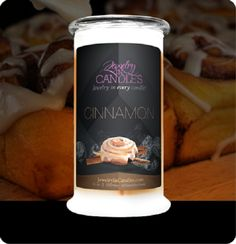 Jewelry in Candles Cinnamon Buns Soy Natural Dessert Relaxing Meditation Home #jewelry #candles  https://www.jewelryincandles.com/store/laburch