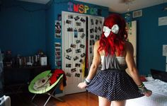 indie scene fashion outfit bow