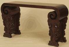 Asian Furniture: Scroll-Styled Console Table from Beijing, China