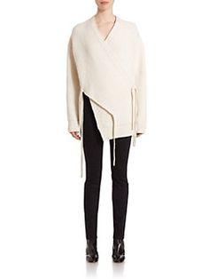 Proenza Schouler - Stretch Wool & Cashmere Wrap Cardigan