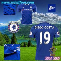 Maillot Du FC Chelsea (DIEGO COSTA 19) Domicile 2016-2017 Pas Cheres