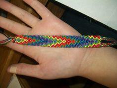Added by liztaps  Friendship bracelet pattern 664 #friendship #bracelet #wristband #craft #handmade #diamond #zig #zag