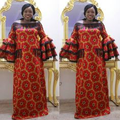30 Pictures of Long Kitenge mix designs. African Maxi Dresses, African Fashion Ankara, Latest African Fashion Dresses, Ghanaian Fashion, African Dresses For Women, Ankara Dress, African Attire, African Wear, African Women