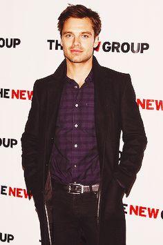 Sebastian Stan.. he looks good in purple