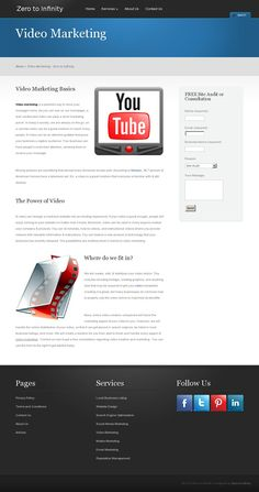 A video can be an attention grabber that gives your business a captive audience. Your business can have people's undivided attention, allowing them to receive your message. http://www.zticonsulting.com/services/video-marketing/