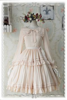 --> #LolitaUpdate: Infanta ~Lily~ Chiffon Uniclor Long Sleeves OP --> [-✔-6 Colors Available-✔-] --> Learn More: http://www.my-lolita-dress.com/infanta-lily-chiffon-long-sleeves-lolita-op-dress-6-colors-available-inf-341