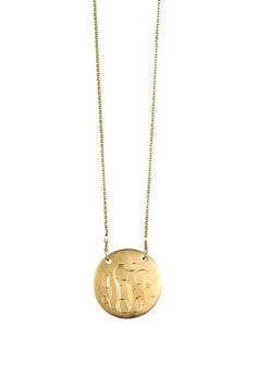 Monogrammed Necklace with Fine Chain in Gold