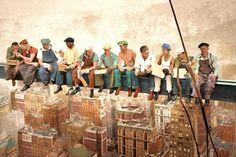 Lunch on Girder Beam Skyscraper 30 Rockefeller Center New York