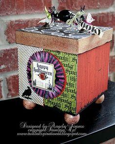 Altered box.  So cute.