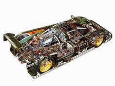 Jaguar XJR6 cutaway