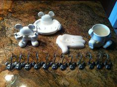 Disney Mickey Mouse Bathroom accesories !!! | eBay LOVE THE SHOWER HOOKS