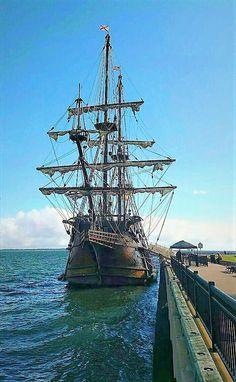 Spanish Galleon at harbor in Pensacola Florida.