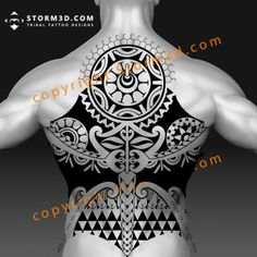 A Polynesian halfsleeve tattoo design with a tiki mask and a lizard symbol at the bottom. All Tattoos, Tribal Tattoos, Tattoos For Guys, Tatoos, Polynesian Tattoo Designs, Maori Tattoo Designs, Get A Tattoo, Back Tattoo, Tiki Tattoo