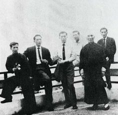 Ip Man and his students, including his sons, Ip Chun and Ip Ching.