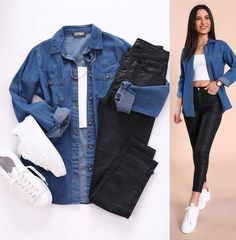 Modest Dresses Casual, Casual Work Outfits, Business Casual Outfits, Simple Outfits, Fall Outfits, Looks Camisa Jeans, Looks Pinterest, Teenager Outfits, Teen Fashion Outfits