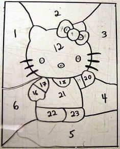 Afbeeldingsresultaten voor stained glass hello kitty