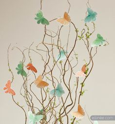 Twig & Butterfly Centerpiece Tutorial - perfect for spring/Easter!  :)