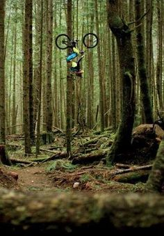 Just checking the trail from a different perspective. Actually hanging from two invisible wires.