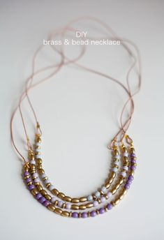 DIY brass and bead necklace tutorial
