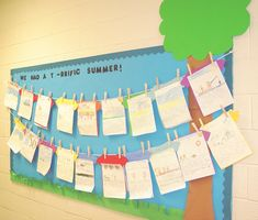 Display student work - such a cute bulletin board idea! Classroom Walls, Classroom Design, Future Classroom, Classroom Decor, Classroom Layout, Class Displays, School Displays, Classroom Displays, Literacy Display