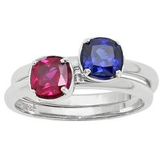 Personalized Birthstone Stackable Ring In Sterling Silver Available Exclusively at Gemologica.com