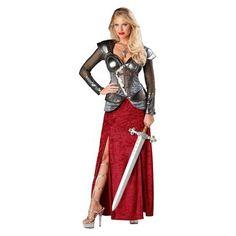 Women's Joan of Arc Premier Costume. french battle dress armor renaissance
