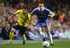 Named by many as the toughest central defender they faced, Terry battles with Lionel Messi in 2009