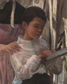 """Original Pastel by Jean-François Le Saint """"Portrait of a breton boy"""" (141201-1) #Realism"""