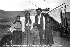 Chief Alexander and family, Forty Mile, Yukon, ca. American Indian Art, American Indians, First Nations, Heritage Site, Native Americans, Nativity, North America, Art Photography, Canada