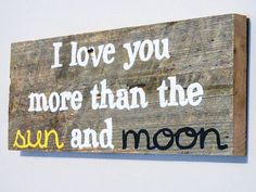 """Add """"and the stars"""" Barnwood Wall Art HandPainted Wood Sign Rustic by TheDoubleDubs, $30.00"""