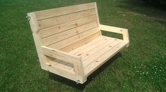How To Build A 2×4 Porch Swing - Jays Custom Creations  (This would go great with the hexagonal swings around the campfire post that I (Tina) just pinned)