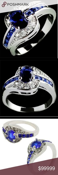 🍁Coming Soon🍁 Blue CZ Crystal Ring Gender:Women,Girls MaterialRhinestone Occasion:Everyday life Style:Trendy Shape/pattern:Round Jewelry Rings