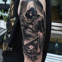 Edward Kenway Tattoo by Nikolay Dzhangirov